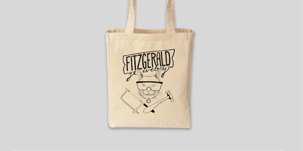 Fitzgerald Tote Bag by vendor - Merch - Fine Jewelry Studio in Williamsburg, Brooklyn, NYC
