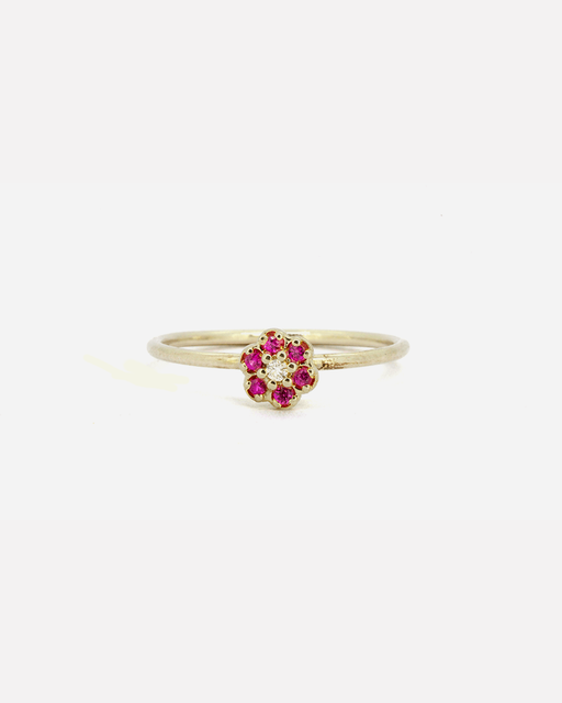 Flower / Ruby Ring by vendor - rings - Fine Jewelry Studio in Williamsburg, Brooklyn, NYC