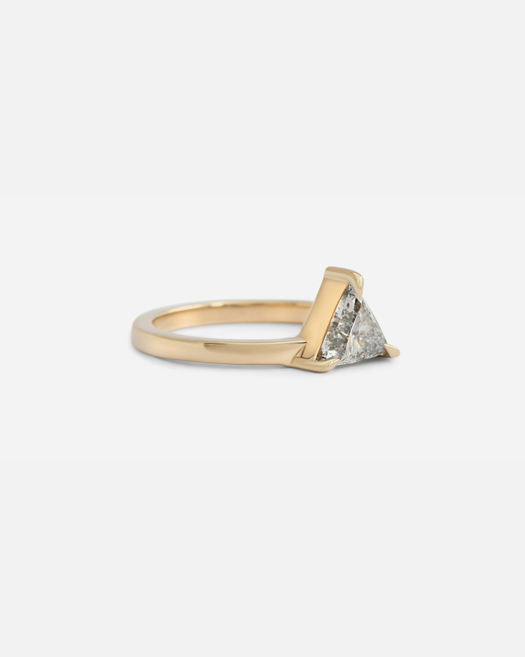 Giza Ring / White Triangular Diamond by #vendor - ENGAGEMENT