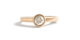 Flat + Bezel / Grey 0.55ct Round - ENGAGEMENT - <meta char - Fitzgerald Jewelry - Handmade in Williamsburg, Brooklyn, NYC