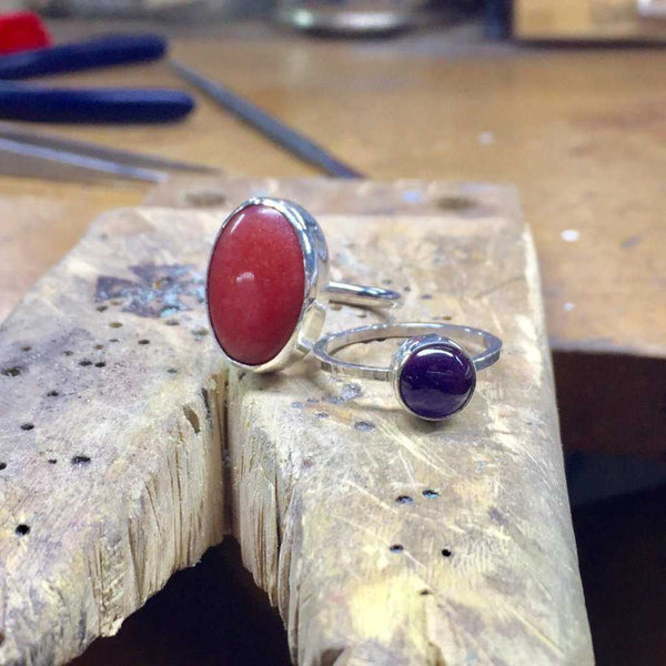 BEZEL SETTING: CABOCHON ROUND + OVALS by vendor - WORKSHOP - Fine Jewelry Studio in Williamsburg, Brooklyn, NYC
