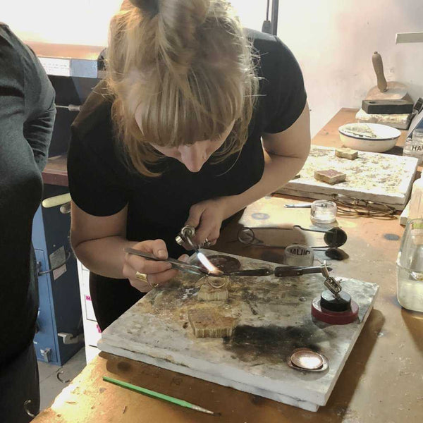 SOLDERING - WORKSHOP - <meta char - Fitzgerald Jewelry - Handmade in Williamsburg, Brooklyn, NYC