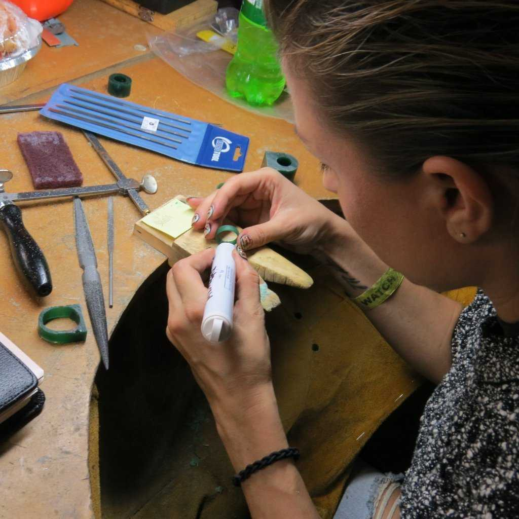 WAX CARVING - STONE SETTING - WORKSHOP - <p>In this - Fitzgerald Jewelry - Handmade in Williamsburg, Brooklyn, NYC