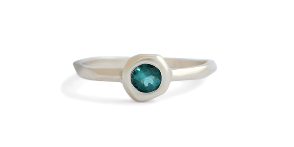 Pebble Ring / Tourmaline by vendor - Pebble - Fine Jewelry Studio in Williamsburg, Brooklyn, NYC