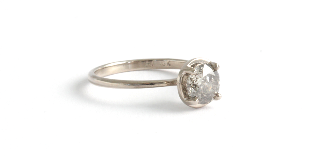 Leah Ring - ENGAGEMENT - <p>Salt &a - Fitzgerald Jewelry - Handmade in Williamsburg, Brooklyn, NYC