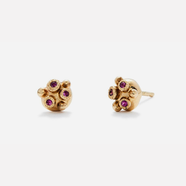 Melee 34A Studs / Ruby by vendor - Earrings - Fine Jewelry Studio in Williamsburg, Brooklyn, NYC