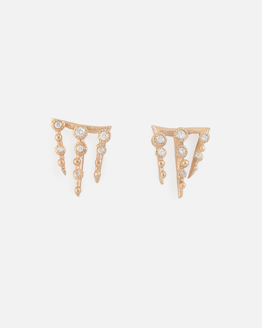 Melee 67 Studs / White Diamonds by #vendor - Earrings