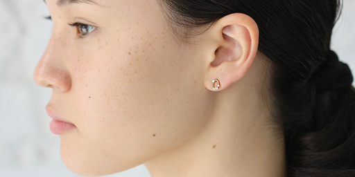 Melee Circle Studs by vendor - MELEE - Fine Jewelry Studio in Williamsburg, Brooklyn, NYC