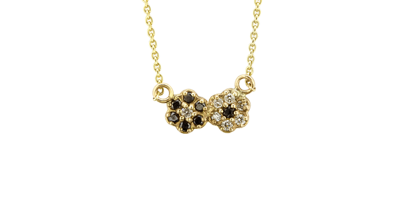 Cluster Diamond Flower Necklace