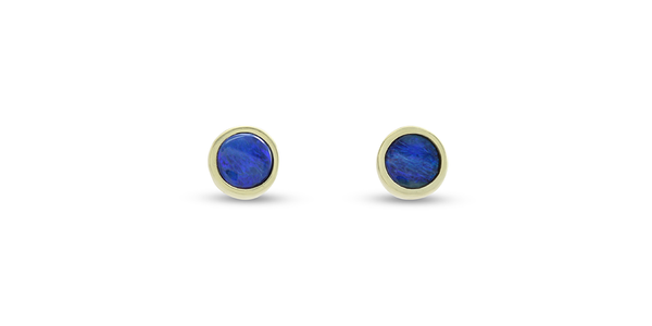 Nugget / Black Opal Studs by vendor - earrings - Fine Jewelry Studio in Williamsburg, Brooklyn, NYC