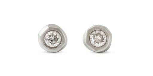 Pebble Studs / Champagne Diamonds by vendor - Pebble - Fine Jewelry Studio in Williamsburg, Brooklyn, NYC