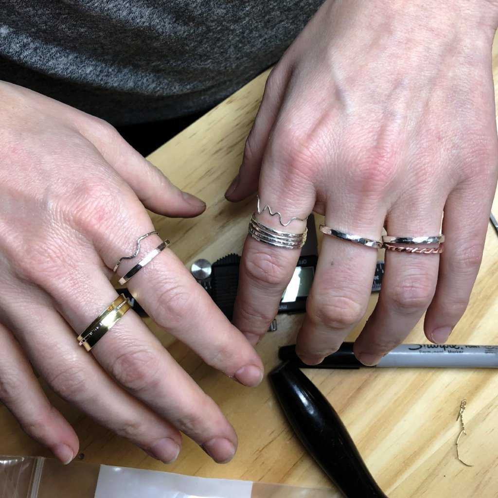 STACKABLE SILVER RINGS - WORKSHOP - <meta char - Fitzgerald Jewelry - Handmade in Williamsburg, Brooklyn, NYC