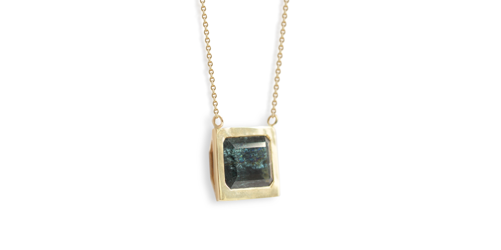 Rock Pendant / Blue Tourmaline