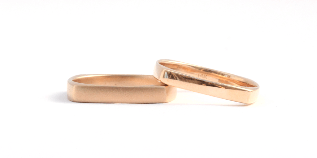Thin Square Band / Womens - WEDDING - <meta char - Fitzgerald Jewelry - Handmade in Williamsburg, Brooklyn, NYC