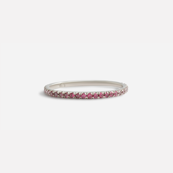 Thin Orbit / Pave 32 Rubies