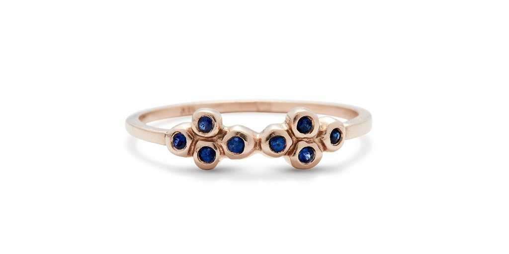 Bubble Ring 15 / Sapphires - Fitzgerald Jewelry