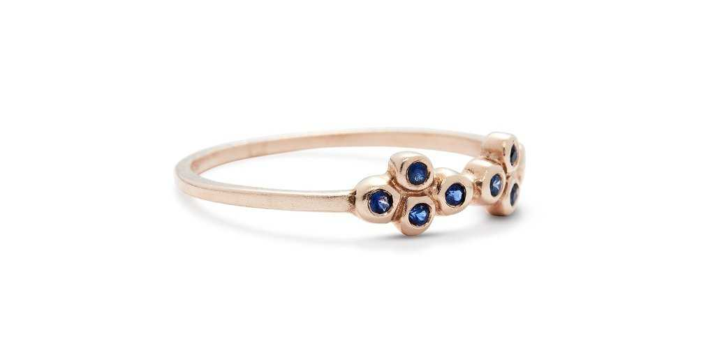 Bubble Ring 15 / Sapphires - Bubble - <meta char - Fitzgerald Jewelry - Handmade in Williamsburg, Brooklyn, NYC