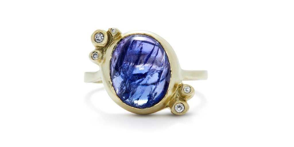 Bubble Ring 23 / Tanzanite - Bubble - <meta char - Fitzgerald Jewelry - Handmade in Williamsburg, Brooklyn, NYC