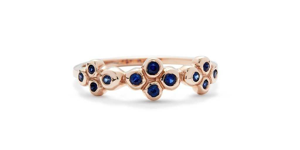 Bubble Ring 7 / Sapphires
