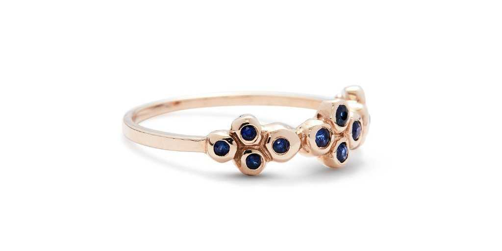 Bubble Ring 7 / Sapphires - Bubble - <meta char - Fitzgerald Jewelry - Handmade in Williamsburg, Brooklyn, NYC