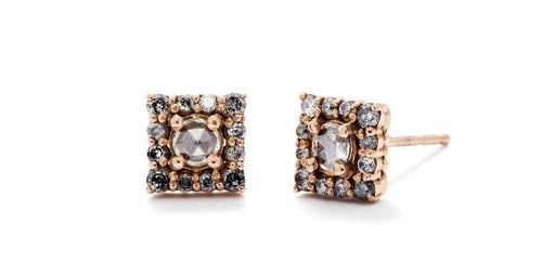 Cathedral / Rose Cut Studs by vendor - earrings - Fine Jewelry Studio in Williamsburg, Brooklyn, NYC