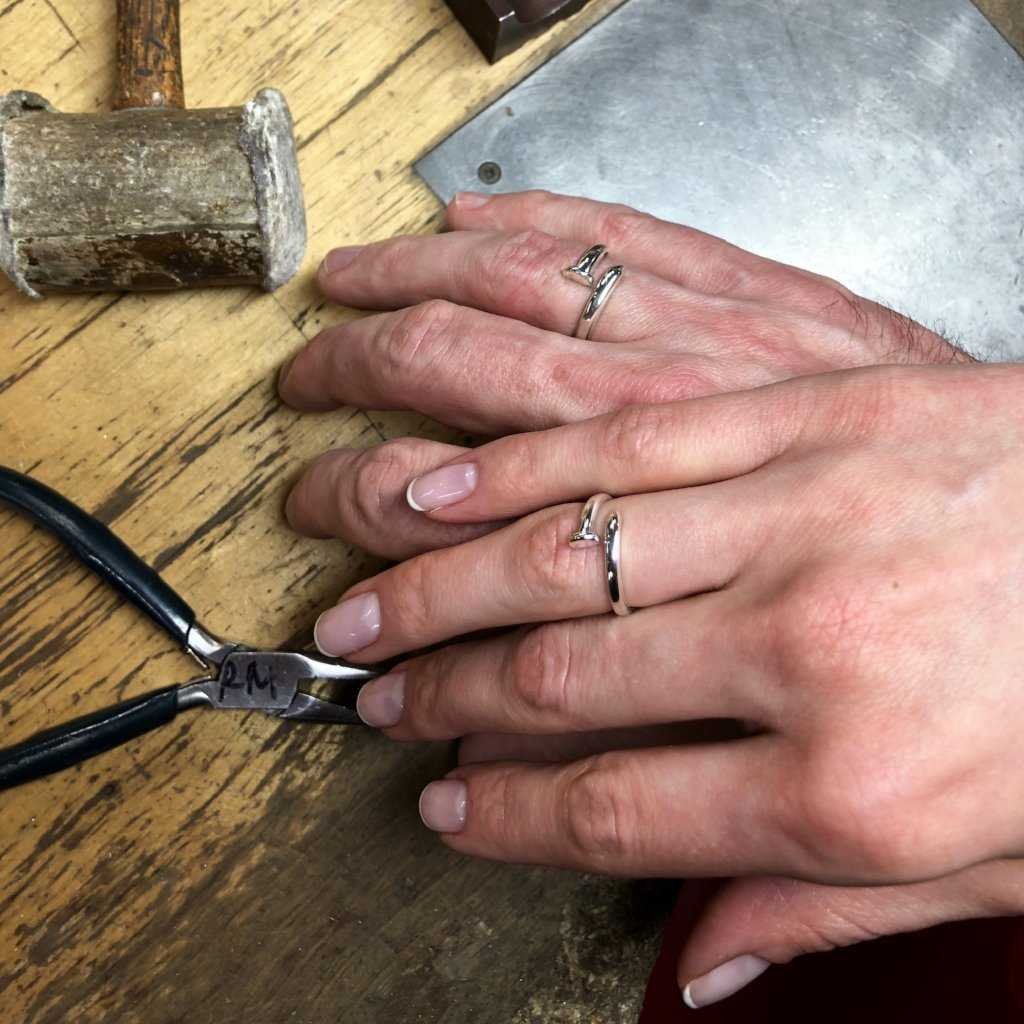 MATCHING BANDS PRIVATE, WORKSHOP, fitzgerald jewelry school, Fitzgerald Jewelry