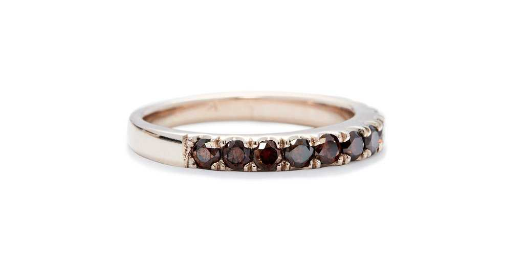 Medium Orbit Band with Red Pave Diamonds - WEDDING - <meta char - Fitzgerald Jewelry - Handmade in Williamsburg, Brooklyn, NYC