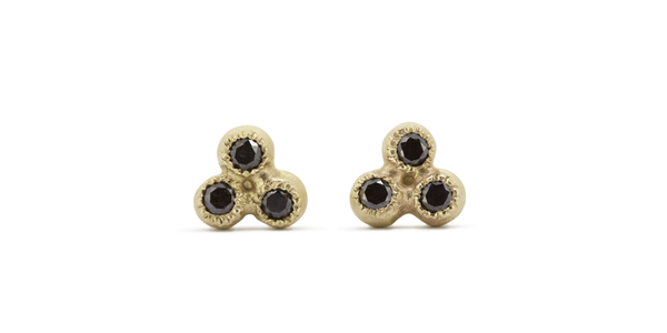 Melee 24A Earrings / Black Diamonds