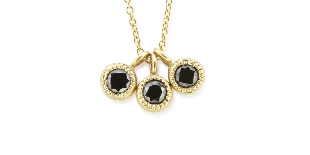 Melee Ball Pendant / Triple / Black Diamonds