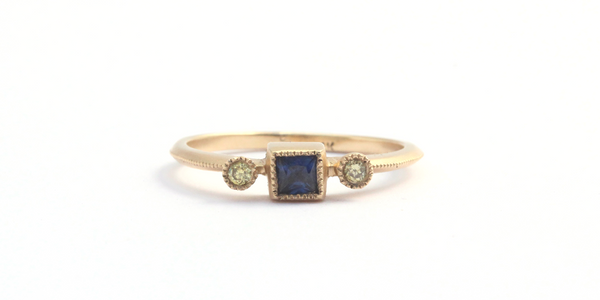 Melee 27 / Blue Sapphire + Yellow Diamond by vendor - MELEE - Fine Jewelry Studio in Williamsburg, Brooklyn, NYC