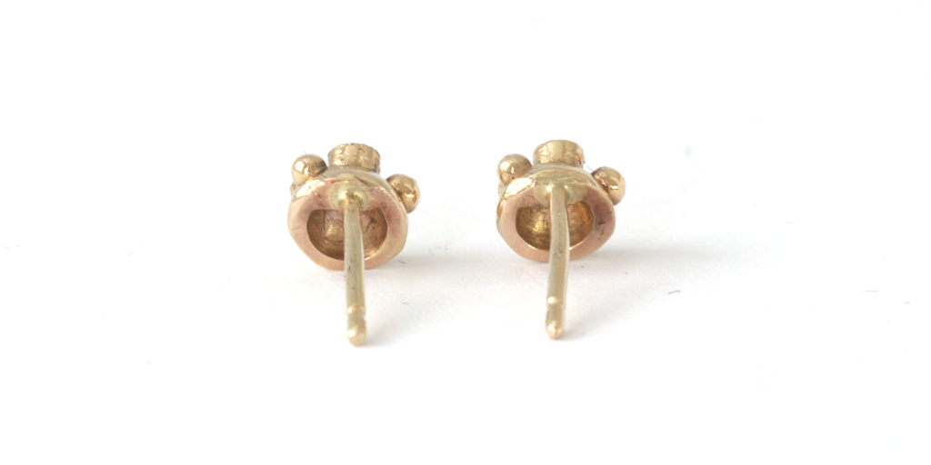 "Melee 34A Studs / White Diamond - MELEE - <p class="" - Fitzgerald Jewelry - Handmade in Williamsburg, Brooklyn, NYC"