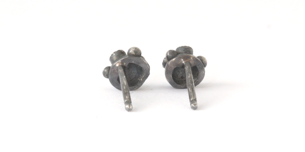 "Melee 34A Studs / Silver White + Champagne Diamonds - MELEE - <p class="" - Fitzgerald Jewelry - Handmade in Williamsburg, Brooklyn, NYC"