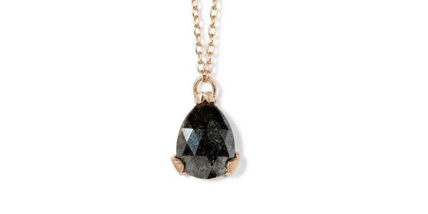 Prong Rock Pendant / Salt + Pepper Diamond by vendor - Pebble - Fine Jewelry Studio in Williamsburg, Brooklyn, NYC