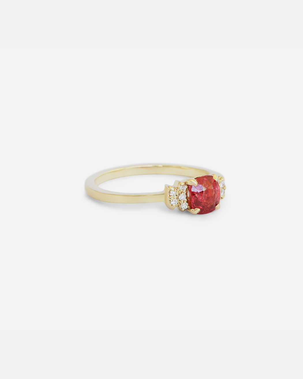 Diamond Bow Ring / Red Spinel by vendor - ENGAGEMENT - Fine Jewelry Studio in Williamsburg, Brooklyn, NYC