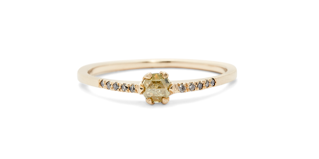 Pave / 3mm Yellow Diamond, pave, fitzgerald jewelry, Fitzgerald Jewelry