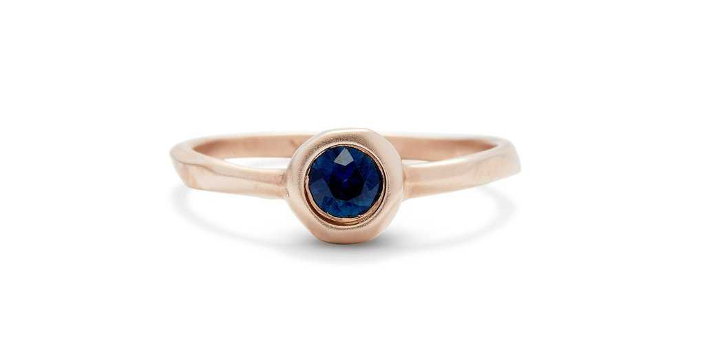 Pebble Ring // Sapphire - Pebble - <meta char - Fitzgerald Jewelry - Handmade in Williamsburg, Brooklyn, NYC