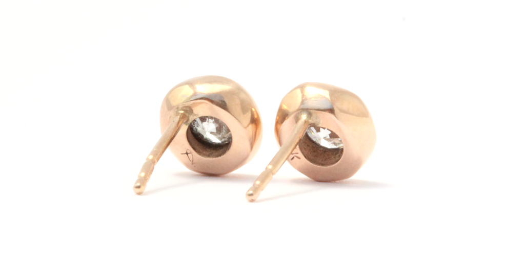 Pebble Studs / White Diamonds by vendor - Pebble - Fine Jewelry Studio in Williamsburg, Brooklyn, NYC
