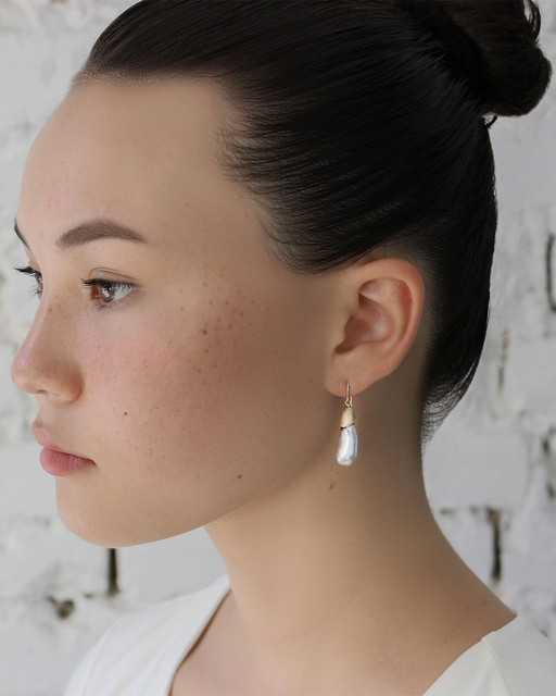 Umi Earrings / Japanese Keshi by vendor - earrings - Fine Jewelry Studio in Williamsburg, Brooklyn, NYC