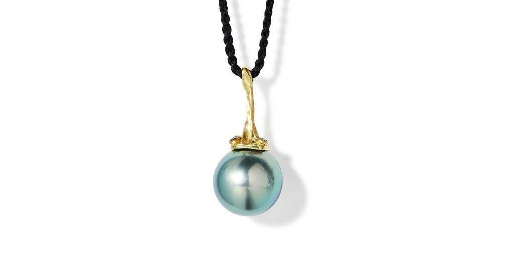 Umi Two Stone Pendant by vendor - pendants - Fine Jewelry Studio in Williamsburg, Brooklyn, NYC