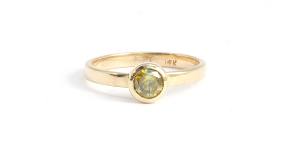 Flat Band / Fancy Yellow Diamond