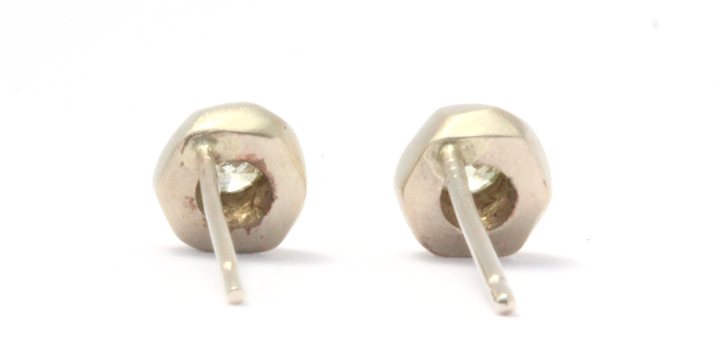 Mini Pebble Studs // Yellow Diamond