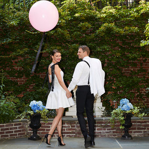 Bride in short white wedding dress little white rehearsal dinner civil wedding dress