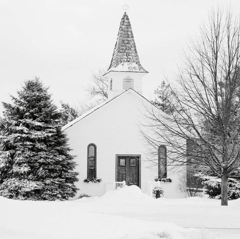 Jane Summers Blog Winter Wedding Chapel in the snow all white wedding