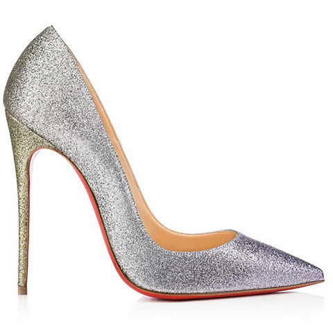 Christian Louboutin So Kate Mixed Metallic Stiletto
