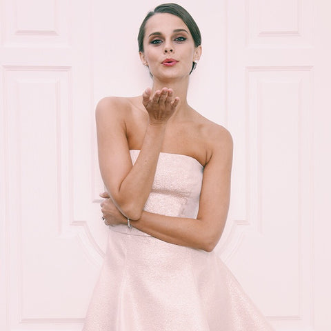 Jane Summers Champagne Pink Rose Gold Strapless Flowy Bridesmaid Wedding Dress Wedding Reception After Party Cocktail Dress