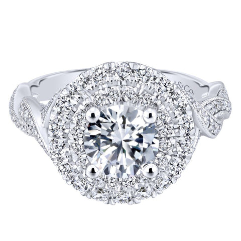 Gabriel NY Diamond Engagement Ring for Jane Summers White Dress Wedding Collection Blog Feature