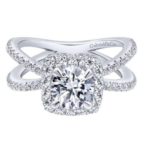 Gabriel NY Diamond Engagement Ring for Jane Summers White Dress Wedding Collection Blog Post