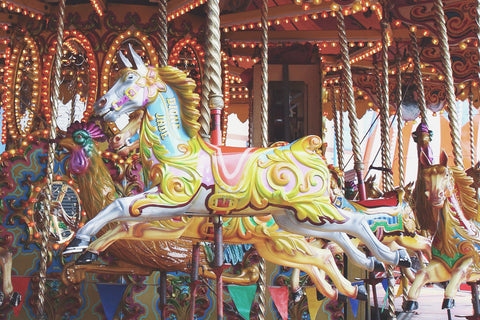 Jane Summers Blog Wedding After Party Carnival Theme Pastel Carousel