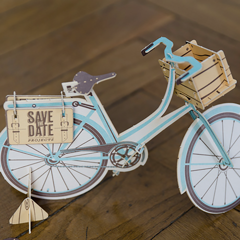 La Trasteria Bicycle Save the Date from Under Consideration