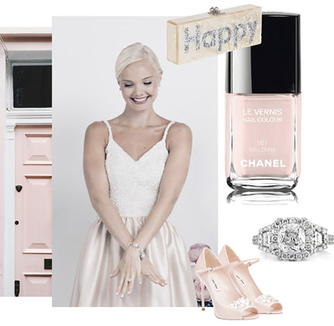 Jane Summers Polyvore Set See Jane Blush with Jane Summers Sydney Sequin and Blush Silk Wedding Reception and After Party Dress